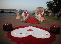 Karşıyaka Sahilde Evlilik Teklifi Organizasyonu