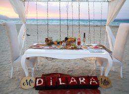 Gün Batımında Kumsalda Evlenme Teklifi Organizasyonu