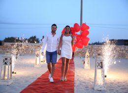 Kumsalda Sürpriz Evlilik Teklifi Organizasyonu