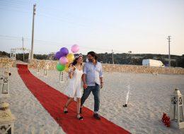 Uçan Balonlar Eşliğinde Sürpriz Evlenme Teklifi Organizasyonu
