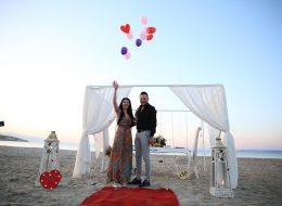 Çeşme Sahilde Evlilik Teklifi Organizasyonu