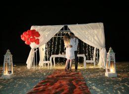 Kumsalda Evlilik Yıl Dönümü Organizasyonu Çeşme