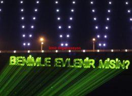 Lazerle Evlenme Teklifi Organizasyonu İzmir