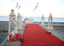 Kumsalda Evlilik Teklifi Organizasyonu Çanakkale