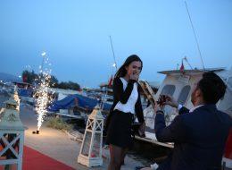 İzmir Organizasyon Teknede Evlilik Teklifi Organizasyonu