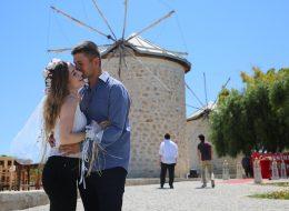 Yel Değirmenlerinde Evlenme Teklifi Organizasyonu Alaçatı