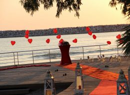 Evlilik Teklifi Organizasyonu Kırmızı Halı ve Denizci Fenerleri Hizmeti Aydın