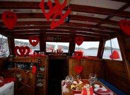Evlilik Teklifi Organizasyonu Tekne Süsleme Bodrum
