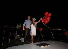 Bodrum Teknede Evlilik Teklifi Organizasyonu