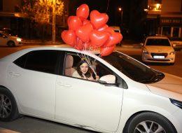 Kırmızı Kalpli Uçan Balon Servisi ile Evlilik Teklifi Organizasyonu Bursa