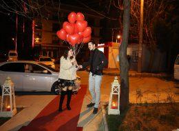 Bursa Nilüfer'de Sürpriz Evlilik Teklifi Organizasyonu