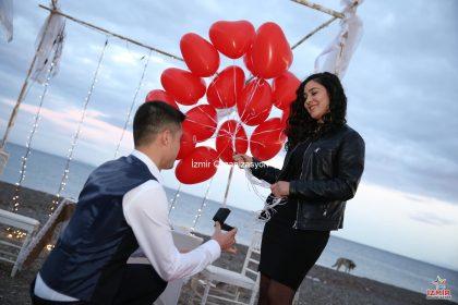Deniz Kenarında Evlilik Teklifleri İzmir Organizasyon