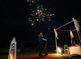 Kumsalda Evlilik Teklifi Organizasyonu Havai Fişek Gösterisi Çanakkale