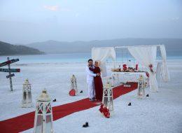 Salda Gölünde Romantik Evlilik Teklifi Organizasyonu