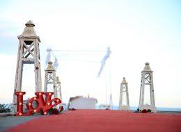 Denizci Fenerleri ve Dekoratif Ürünler Eşliğinde Evlilik Teklifi Organizasyonu