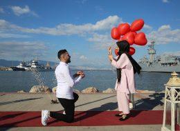 Sahilde Evlilik Teklifi Organizasyonu İzmir