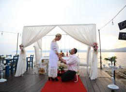 Seferihisar İskelede Romantik Evlilik Teklifi Organizasyonu