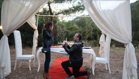 Muğla'da Evlilik Teklifi Organizasyonu İzmir Organizasyon