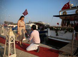 Teknede Evlilik Teklifi Organizasyon