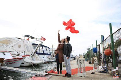 Teknede Evlilik Teklifi Organizasyonu Burcu & Ömer