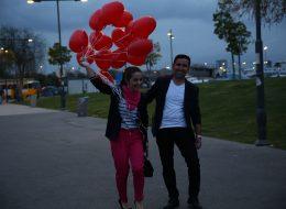 Bostanlı Sahilde Evlenme Teklifi Organizasyonu Pınar & Reyhan