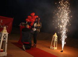 Yer Volkanları ve Uçan Balonlar Eşliğinde Sürpriz Evlilik Teklifi Organizasyonu İzmir
