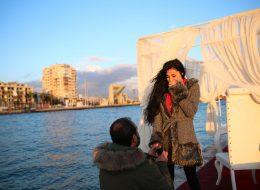 Karşıyaka Yelken Kulübünde Duygusal Evlenme Teklifi Organizasyonu İzmir