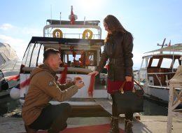 Teknede Evlilik Teklifi Organizasyonu ve Evlilik Teklifinin Gerçekleştiği An