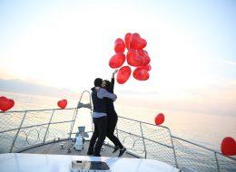 Bostanlı Mutluluk Teknesinde Evlenme Teklifi Organizasyonu
