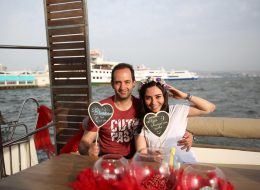 Kalpli Tasarım Pasta ile Gelen Evlilik Teklifi İzmir