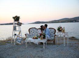 Vintage Konseptli Evlilik Teklifi Organizasyonu ve Dekoratif Ürünlerle Süsleme İzmir