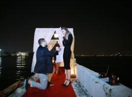 KSK Yelken Kulübünde Evlenme Teklifi Organizasyonu ve Evlilik Teklifi Anı