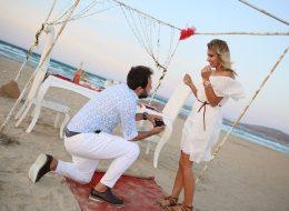 Deniz Kenarında Şaşırtan Evlenme Teklifi Organizasyonu İzmir