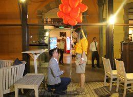 Restoranda Sürpriz Evlilik Teklifi Organizasyonu İzmir