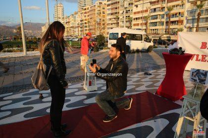Kordon'da Evlilik Teklifi Organizasyonu Esra & Erkan