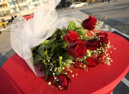 Evlilik Teklifi Organizasyonu Kırmızı Gül Buketi