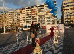 İzmir Evlilik Teklifi Organizasyonu Mavi Uçan Balon