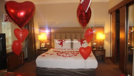 Otel Odası Süsleme Evlilik Teklifi Organizasyonu İzmir