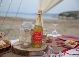 Çeşme'de Kumsal Evlenme Teklifi Organizasyonu Zarife & Ufuk