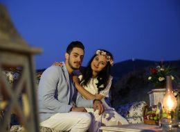 Kandiller ve Rustik Desenler ile Masa Süsleme İzmir Evlilik Teklifi Organizasyonu