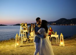Evlilik Teklifi Organizasyonu ve Gün Batımında Romantik Dans