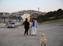 Uçan Balonlar ile Karşılaşama ve Evlilik Teklifi Organizasyonu