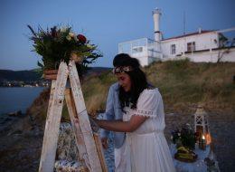 Deniz Feneri Foça'da Evlenme Teklifi Organizasyonu