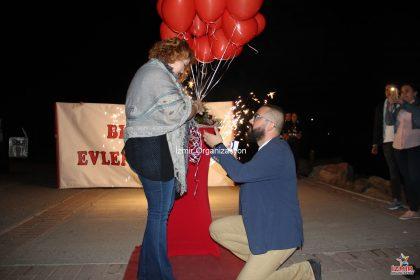 Evlenme Teklifi Anı İnciraltında Evlilik Teklifi Organizasyonu