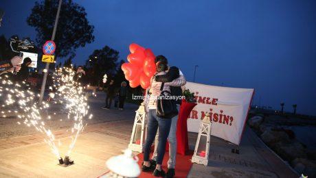 Deniz Kenarında Evlilik Teklifi Organizasyonu Gamzenur & Burak