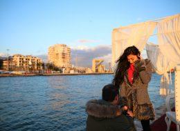Deniz Kenarında Romantik Evlilik Teklifi Organizasyonu