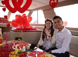 İzmir'de Teknede Evlenme Teklifi Organizasyonu Tekne Süsleme