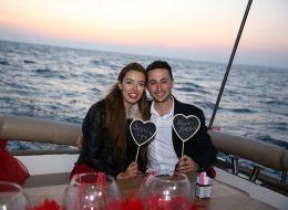 Körfezde Teknede Evlilik Teklifi Organizasyonu Ece & Ali