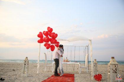 Kumsalda Evlilik Teklifi Fikirleri İzmir Organizasyon