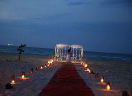 Ege Plajında sürpriz evlenme teklifi organizasyonu